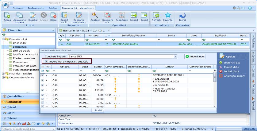 Optimizare import extrase01