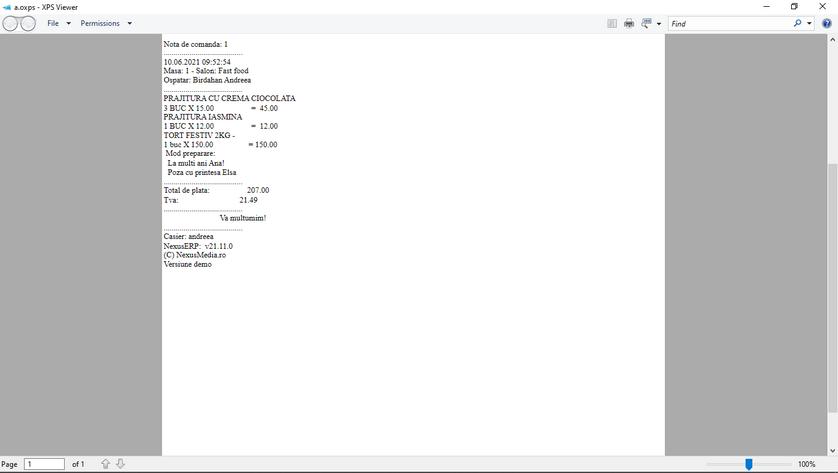 Tiparire documente salvare comanda client 05