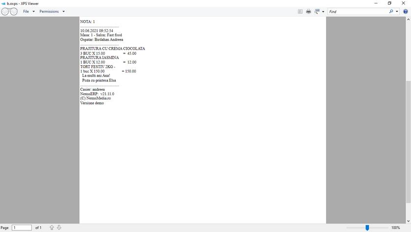 Tiparire documente salvare comanda client 06