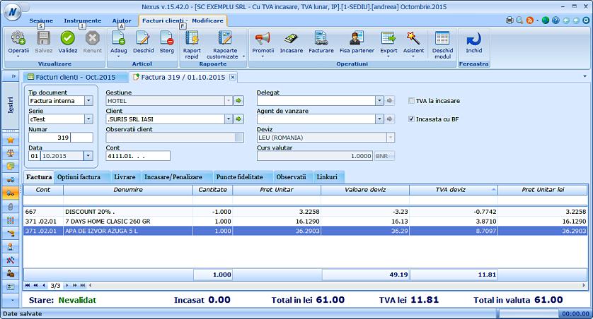 Adaugare discount pe factura client 04