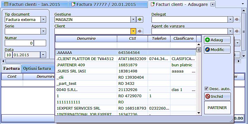 Customizare fereastra vizualizare nomenclatoare 02