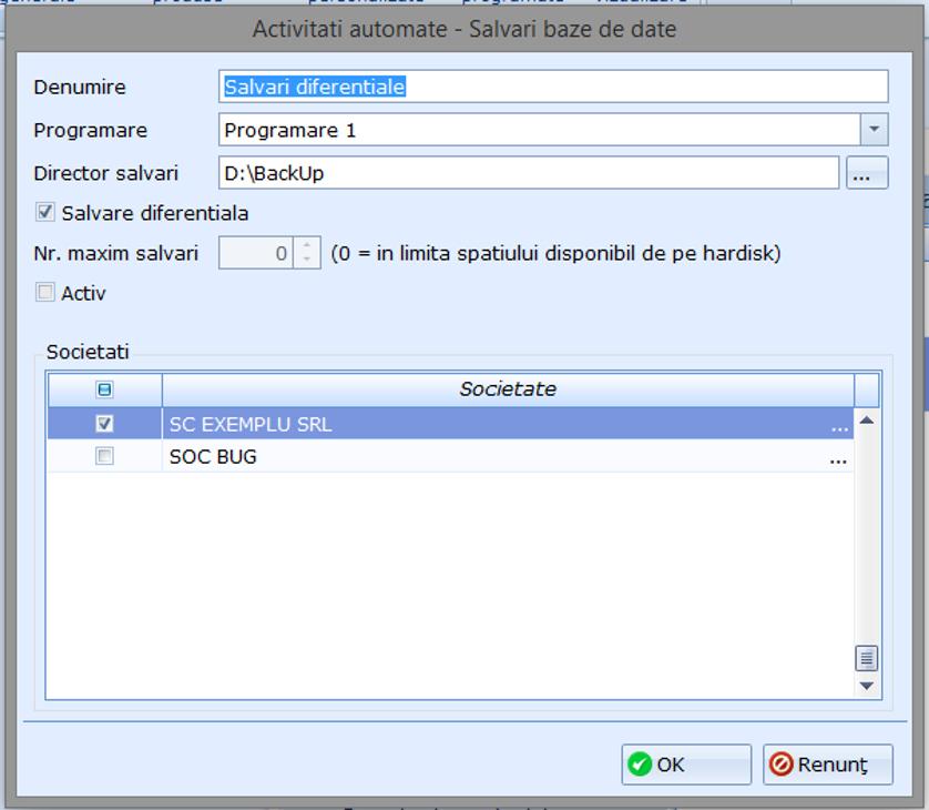 Salvari diferentiale baze de date