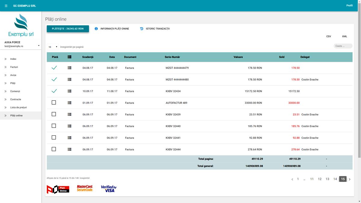 ContClient.ro Plata Online cu Cardul a Facturilor