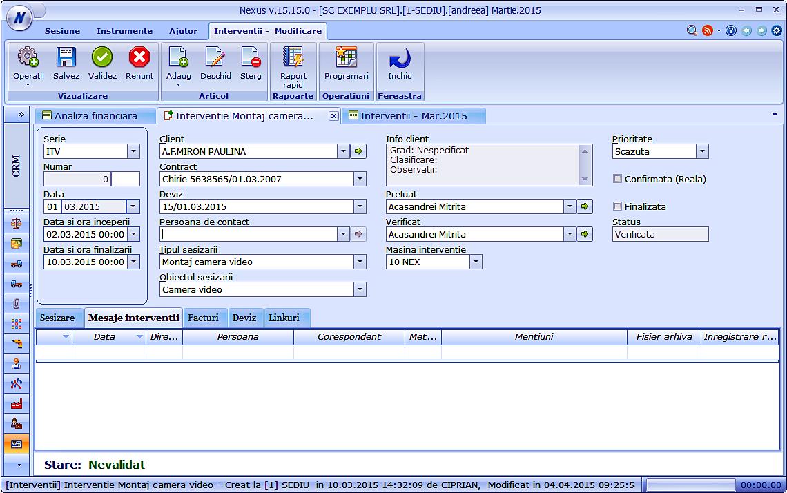 Nexus CRM Service