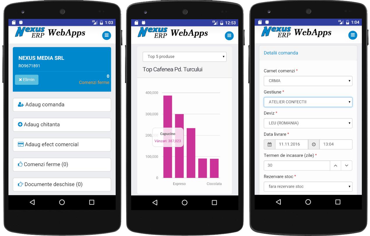 nexus erp apps 2 sfa bord comenzi