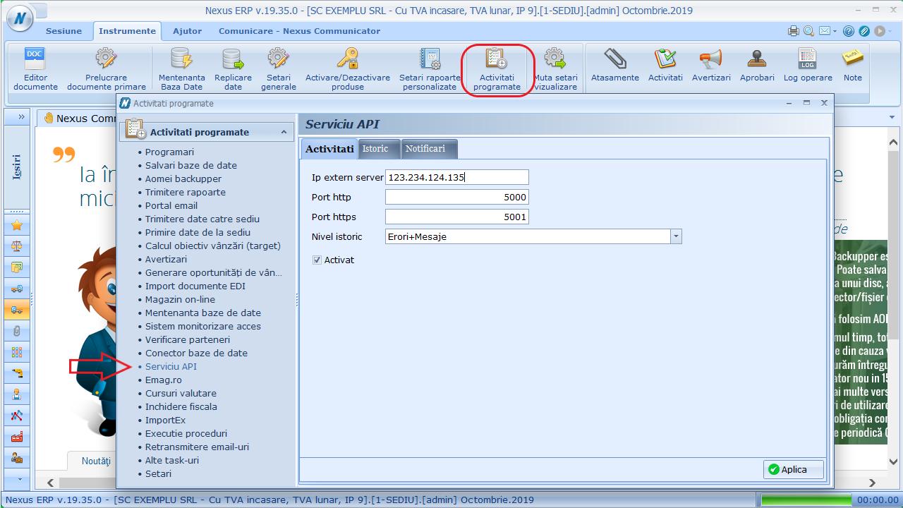 Activare Nexus API