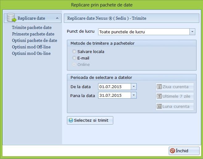 Pași pentru implementarea lucrului cu puncte de lucru în Nexus Erp