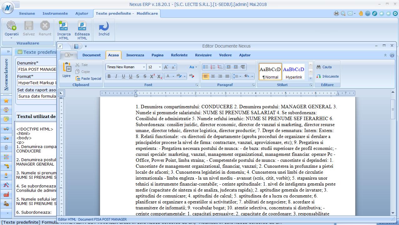 Editor documente