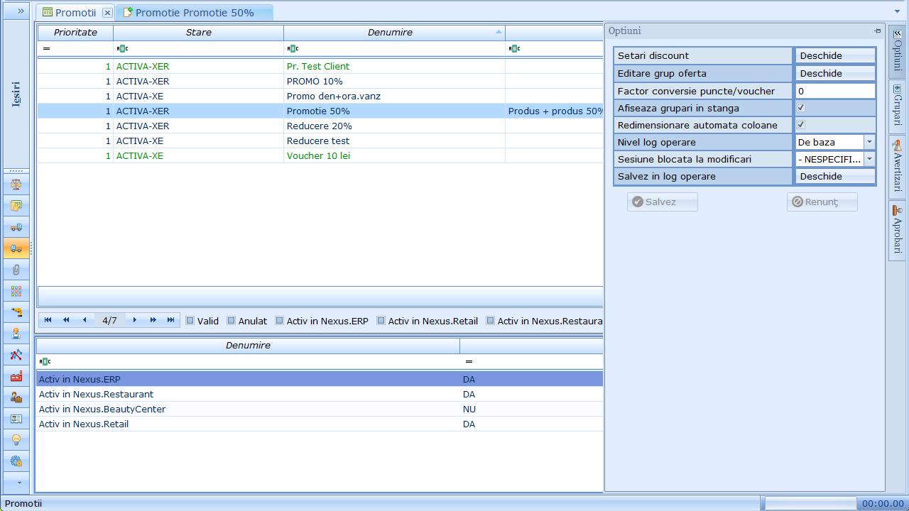 Configurare promotie in Nexus