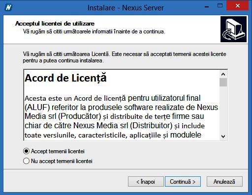 Instalare server pas 2