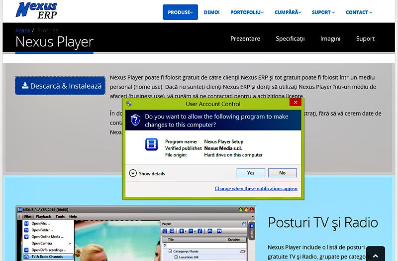 Instalaţi Nexus Player