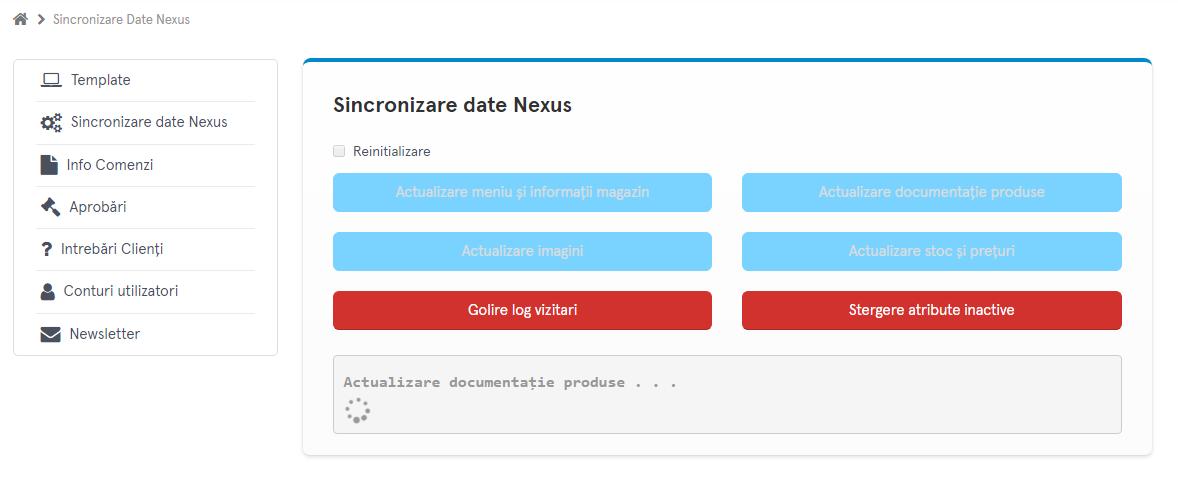 Sincronizare Date Nexus