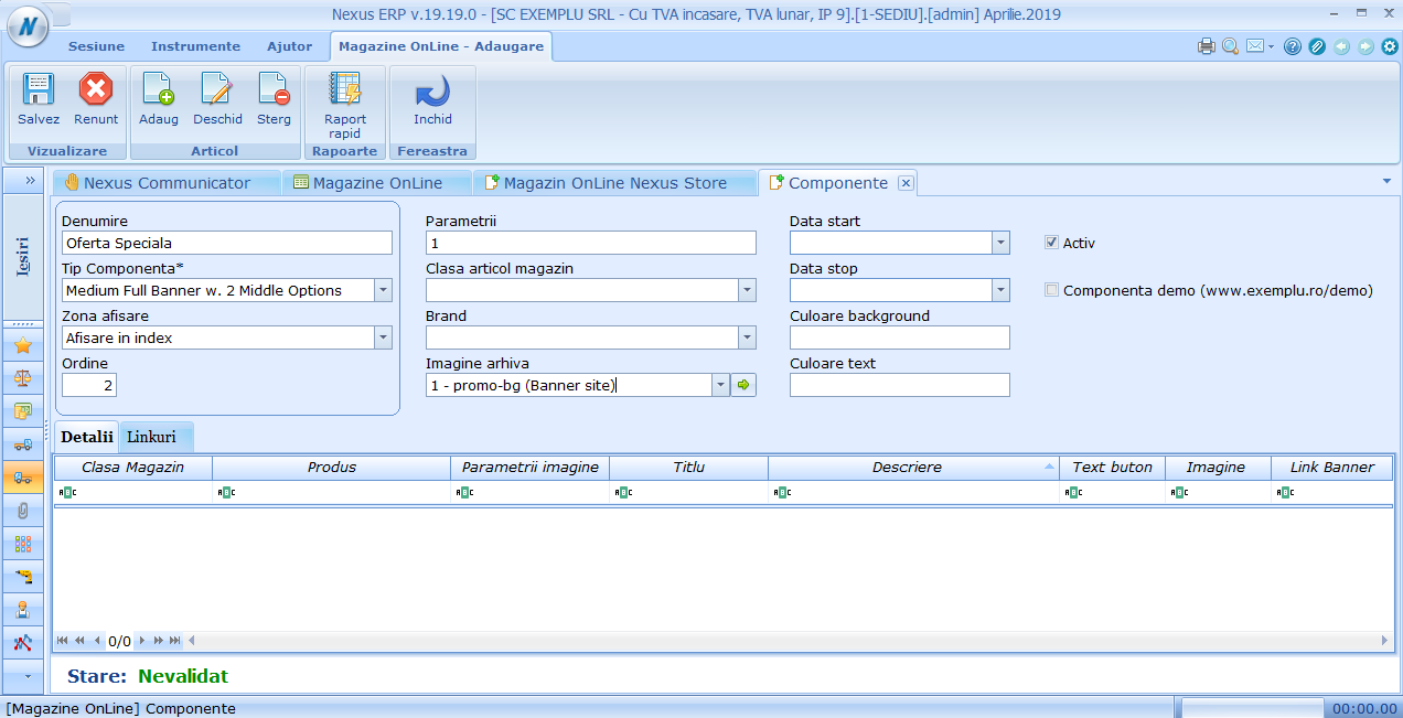 Adaugare componenta Medium Full Banner w. 2 Middle Options